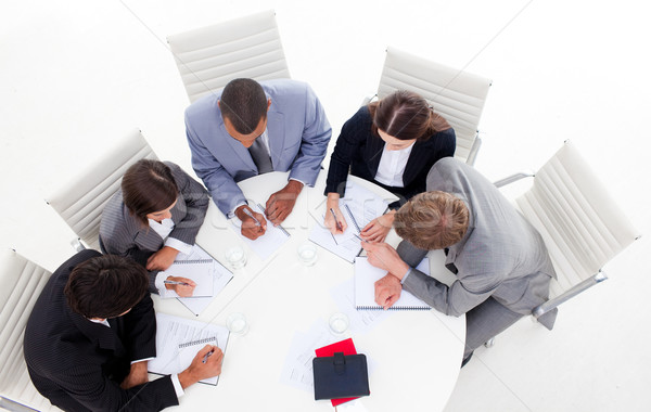 High angle of a diverse business group sitting around a conferen Stock photo © wavebreak_media