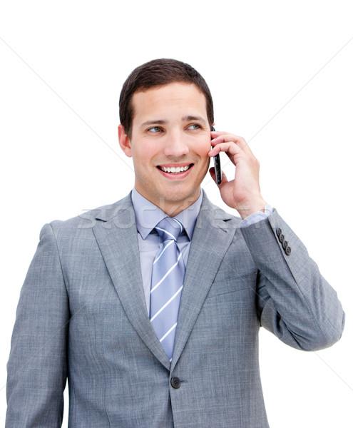 Portrait of a fortunate businessman on phone Stock photo © wavebreak_media