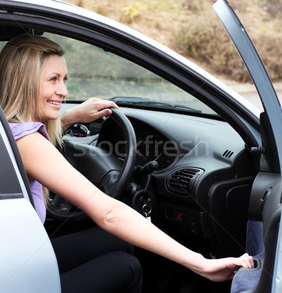 Jolly female driver at the wheel  Stock photo © wavebreak_media