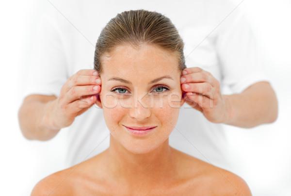 Charismatic woman having a head massage Stock photo © wavebreak_media