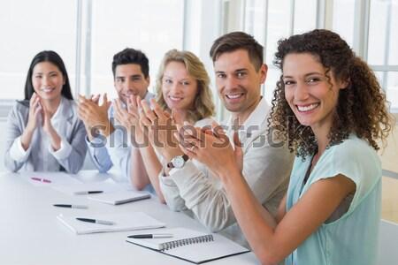 ビジネスの方々  拍手 会議 ビジネス 女性 ストックフォト © wavebreak_media