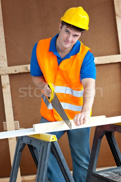 カリスマ的な 男性 ワーカー 着用 黄色 ストックフォト © wavebreak_media