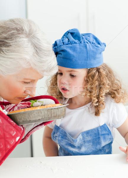 Meisje grootmoeder home huis meisje Stockfoto © wavebreak_media