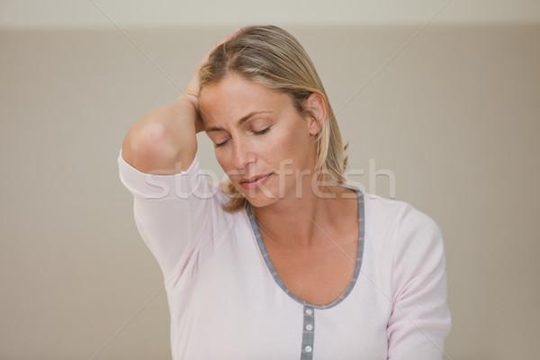 Vrouw hoofdpijn home liefde man paar Stockfoto © wavebreak_media