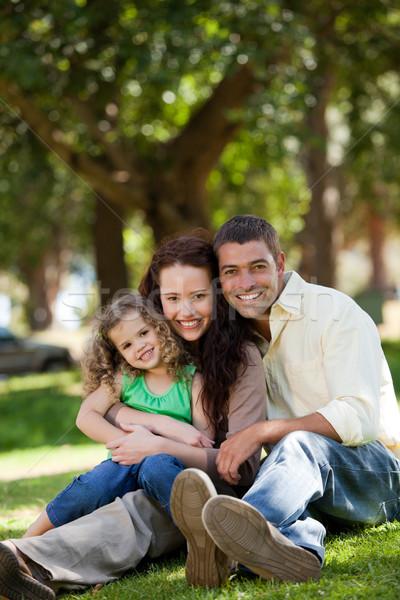 Radiant family sitting in the garden Stock photo © wavebreak_media