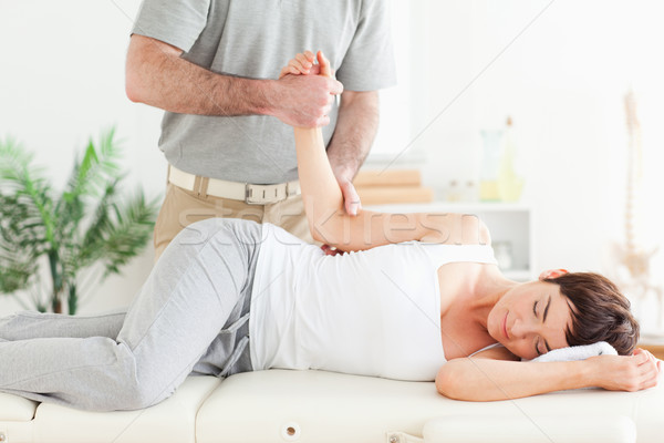 Chiropractor kol cerrahi el spor vücut Stok fotoğraf © wavebreak_media