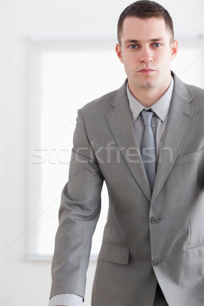 Confident business man waiting for an answer during a negotiation Stock photo © wavebreak_media