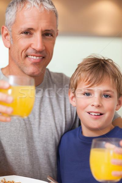 мальчика отец завтрак кухне дома Сток-фото © wavebreak_media