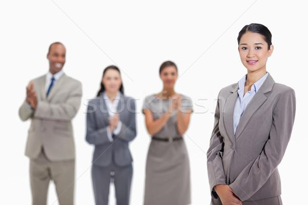 Stok fotoğraf: Işkadını · gülen · iş · kadın