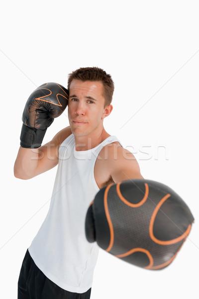 Boxer pugno bianco fitness boxing una persona Foto d'archivio © wavebreak_media