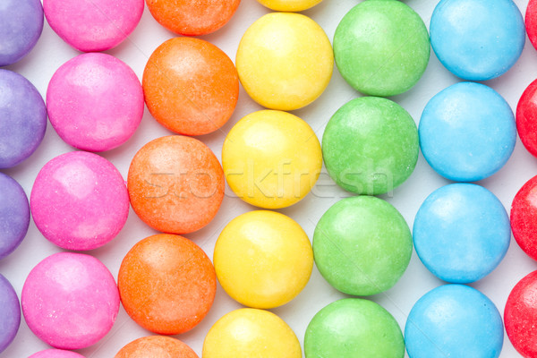 Candies multi colored against a white background Stock photo © wavebreak_media