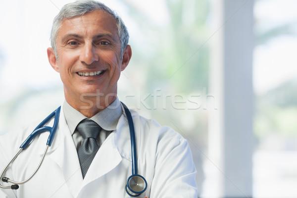 Foto d'archivio: Medico · sorridere · ospedale · salute · lavoro · help
