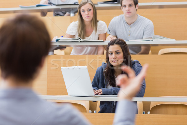 Diákok ül hallgat tanár előadás előcsarnok Stock fotó © wavebreak_media
