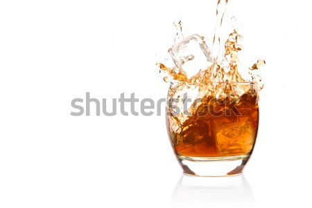 Tumbler glass with brown alcohol Stock photo © wavebreak_media