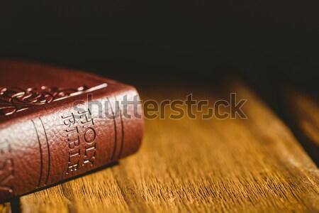 Bible on wooden table  Stock photo © wavebreak_media