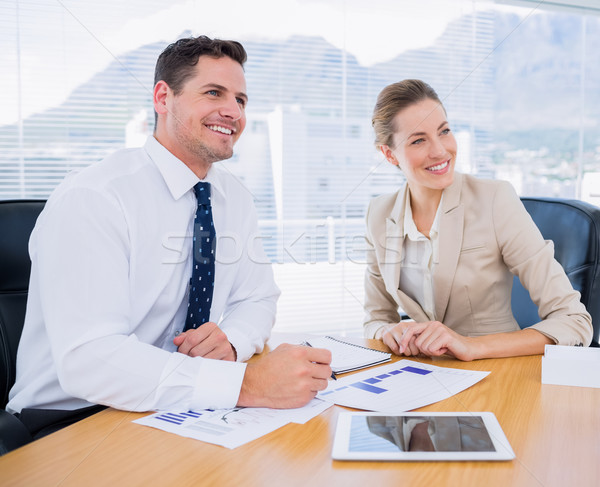 Smartly dressed colleagues in business meeting Stock photo © wavebreak_media
