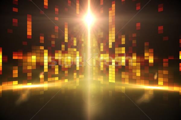 Digitaal gegenereerde disco Geel Stockfoto © wavebreak_media