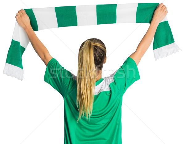 Futbol fan eşarp beyaz Stok fotoğraf © wavebreak_media