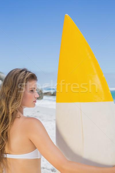 соответствовать Surfer девушки доска для серфинга пляж Сток-фото © wavebreak_media