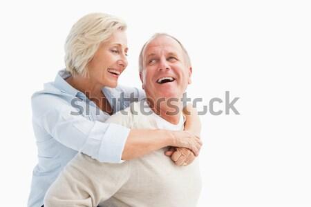 Feliz maduro casal sorridente outro branco Foto stock © wavebreak_media