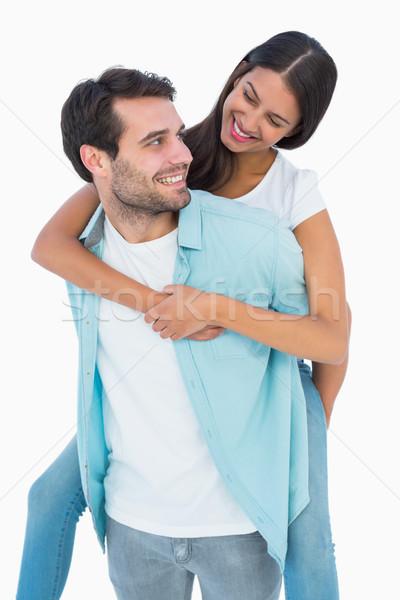 Feliz casual homem bastante namorada Foto stock © wavebreak_media