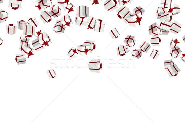 Biały czerwony christmas przedstawia cyfrowe Zdjęcia stock © wavebreak_media