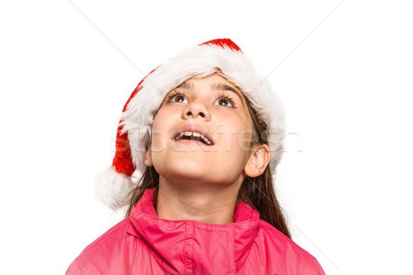 女の子 見える 驚いた 白 子 ストックフォト © wavebreak_media