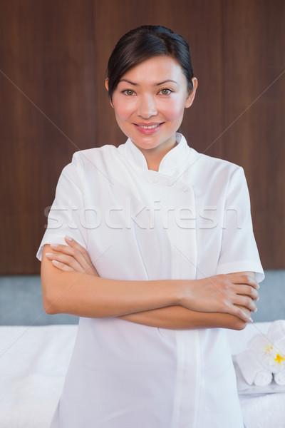 肖像 女性 マッサージ師 立って 笑顔 ストックフォト © wavebreak_media