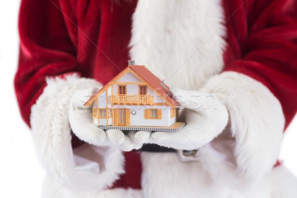 Mikulás pici ház kezek fehér férfi Stock fotó © wavebreak_media