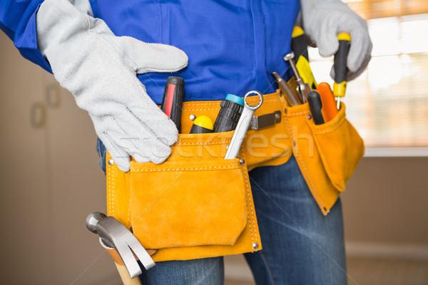 Klusjesman tool gordel huis Stockfoto © wavebreak_media