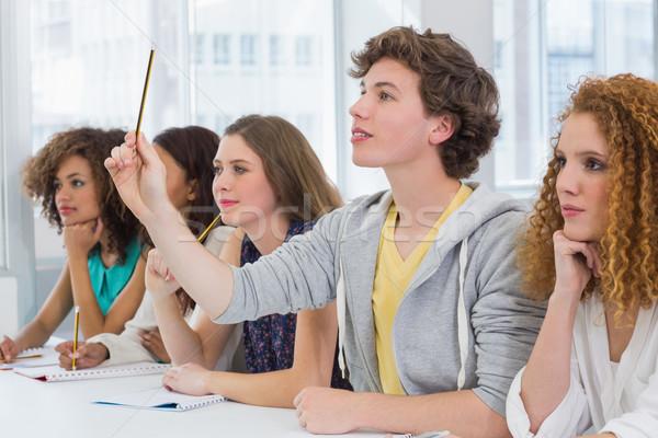 Moda studenti attento classe college ragazza Foto d'archivio © wavebreak_media