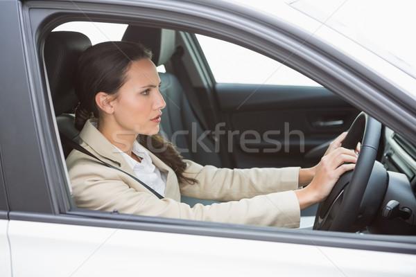Businesswoman honking the horn Stock photo © wavebreak_media