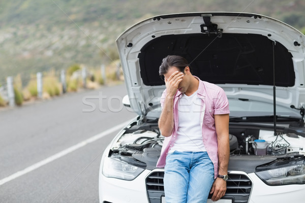 Desperate man after a car breakdown  Stock photo © wavebreak_media