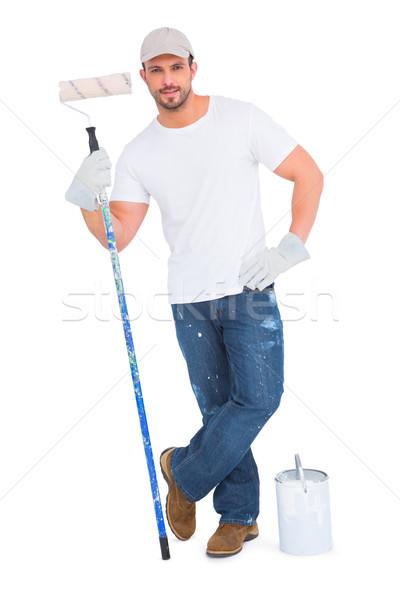 Handyman homem feliz trabalhando retrato Foto stock © wavebreak_media