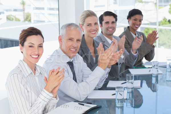 Business team applauding during conference Stock photo © wavebreak_media