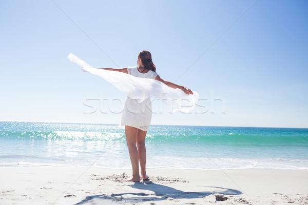 Pacífico morena aire playa mujer Foto stock © wavebreak_media