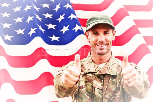 изображение солдата рук Сток-фото © wavebreak_media