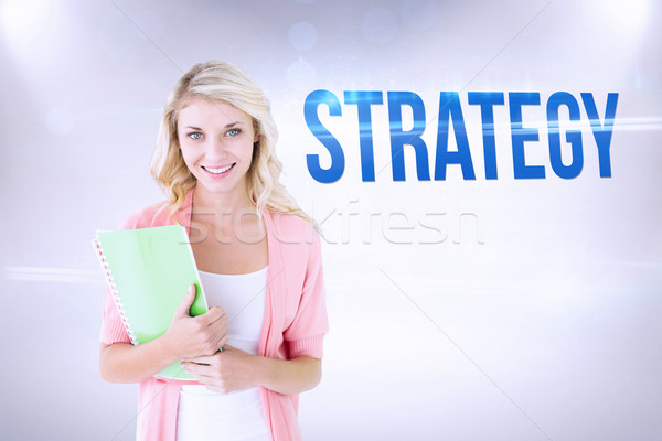Strategy against grey background Stock photo © wavebreak_media