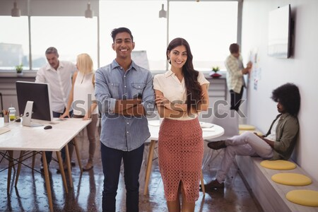 Businessman making a presentation to his fellow coworkers Stock photo © wavebreak_media