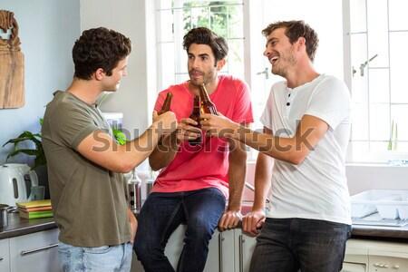 Mann Gießen Champagner Glas Kollegen Büro Stock foto © wavebreak_media