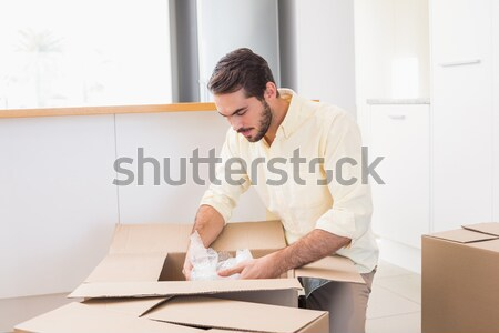 Anxieux entrepôt gestionnaire bureau séance homme Photo stock © wavebreak_media