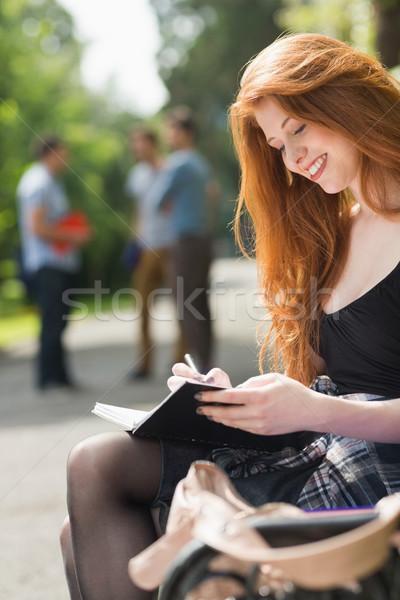 Dość student studia na zewnątrz kampus uczelni Zdjęcia stock © wavebreak_media