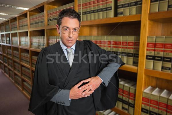 Advocaat naar camera recht bibliotheek universiteit Stockfoto © wavebreak_media