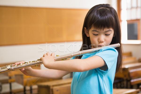 Cute giocare flauto classe musica Foto d'archivio © wavebreak_media