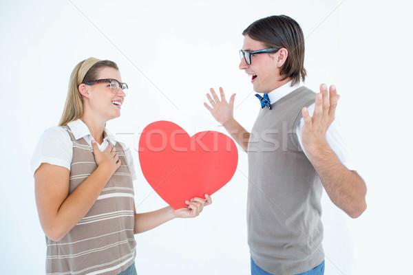 Feliz namorado branco homem vermelho Foto stock © wavebreak_media