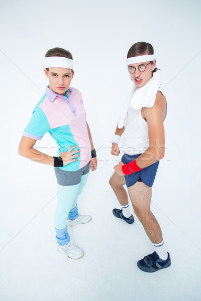 Geeky hipster couple posing in sportswear  Stock photo © wavebreak_media