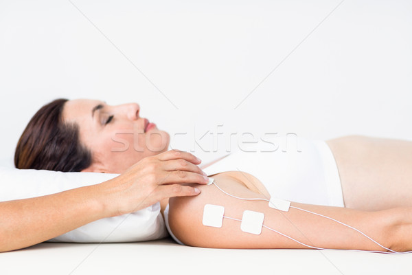 Stock photo: Woman having electrotherapy