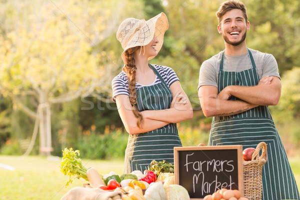 ストックフォト: 幸せ · 農民 · 立って · 愛