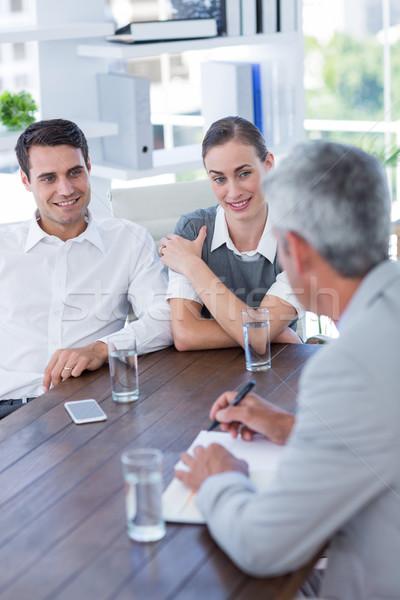 Przypadkowy ludzi biznesu wraz biuro kobieta Zdjęcia stock © wavebreak_media