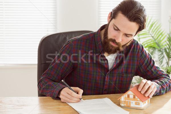 бизнесмен ипотечный служба модель Сток-фото © wavebreak_media
